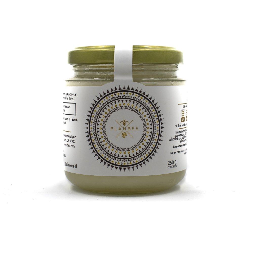 Miel-gourmet-de-abeja-100%-orgánica-y-natural-blanca-de-flor-de-mezquite