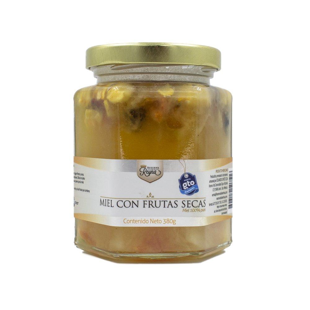Miel-gourmet-de-abeja-con-frutos-secos-100%-orgánica-y-natural-multiflora